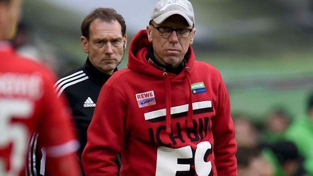 Stöger und Hosiner verlieren Derby gegen Gladbach (Bild: APA/AFP/PATRIK STOLLARZ)