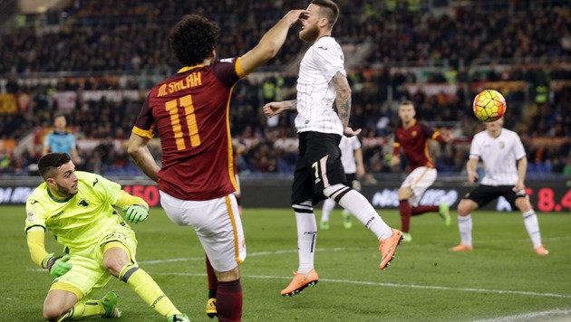 AS Roma feiert 5:0-Gala nach dem Totti-Wirbel (Bild: AP)