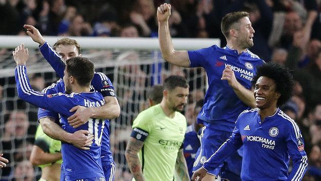 Chelsea frisst ManCity im FA-Cup mit Haut & Haaren (Bild: AP)