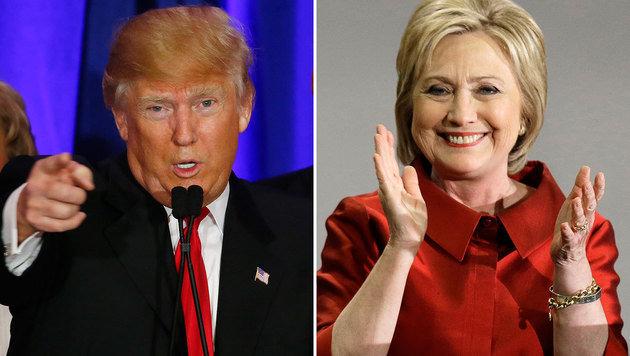 Siege für Trump und Clinton bei den Vorwahlen in South Carolina und Nevada (Bild: ASSOCIATED PRESS)