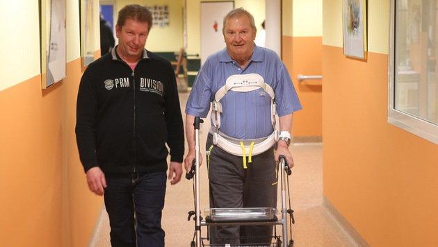 Schludermann und sein Schwiegersohn Manfred (links) (Bild: Sepp Pail)