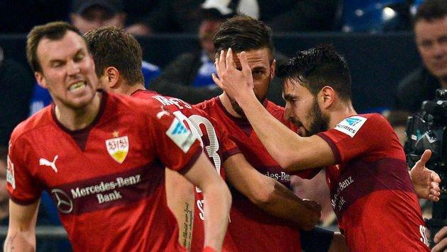 Harnik kam, sah und rettete Stuttgart bei Schalke (Bild: AFP or licensors)