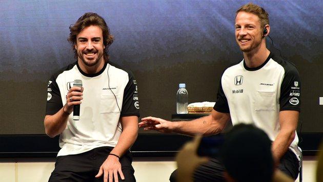 Fernando Alonso (links) und Jenson Button (rechts) (Bild: AFP)