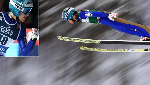 Michael Hayböck siegt in Lahti mit Mega-Vorsprung (Bild: GEPA; APA/AFP/PIOTR NOWAK)