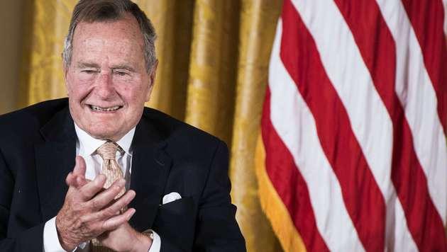 George H. W. Bush, Ex-Präsident und Vater von Jeb Bush (Bild: AFP)