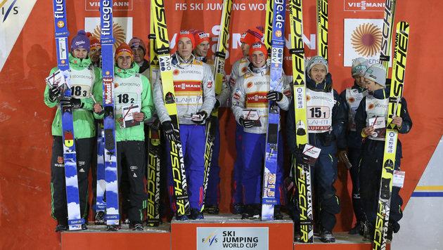 Das Siegerpodest von Kuopio (Bild: GEPA)