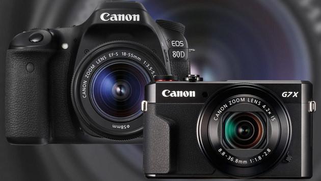 Canon kündigt G7 X Mark II und EOS 80D an (Bild: Canon, krone.at-Grafik)