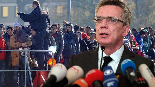 """""""Werden das auf Dauer nicht hinnehmen"""": Innenminister Thomas de Maiziere (Bild: APA/BARBARA GINDL, AP)"""
