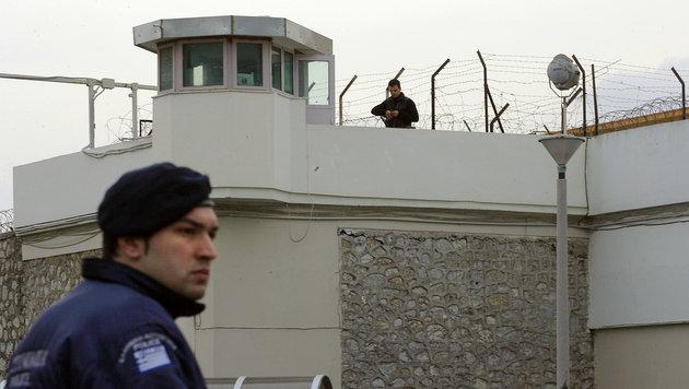 Das Korydallos-Gef�ngnis nahe Athen: Hier sollte der Ausbruch �ber die B�hne gehen. (Bild: Losmi Bica/AFP/picturedesk.com)