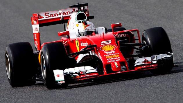Ferrari top! Vettel auch am 2. Testtag Schnellster (Bild: AFP or licensors)