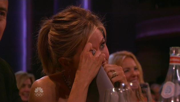 Jennifer Aniston kann die Tränen nicht zurückhalten. (Bild: Viennareport)