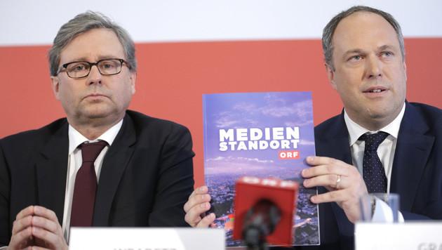 Alexander Wrabetz und Richard Grasl (Bild: APA/GEORG HOCHMUTH)