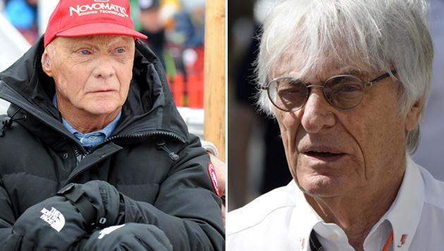 "Lauda über Ecclestone: ""Er zerstört alles!"" (Bild: APA/Roland Schlager, APA/AFP/Tom Gandolfini)"