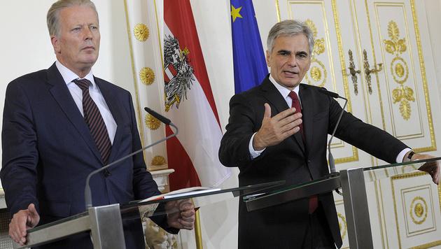 Regierung: Brauchen keine Ratschläge aus Brüssel (Bild: APA/Herbert Pfarrhofer)