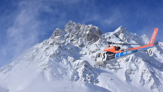 In wenigen Minuten am Gipfel - mit einem 850-PS-Hubschrauber kein Problem (Bild: Renè Guhl)
