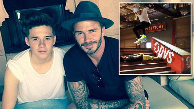 Brooklyn Beckham: Cooler Skateboard-Stunt (Bild: Viennareport)