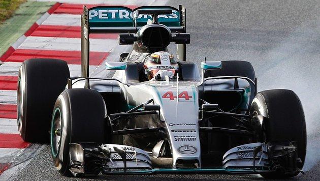 Mercedes weiter ohne Bestzeit - Hülkenberg voran (Bild: APA/AFP/JOSE JORDAN)