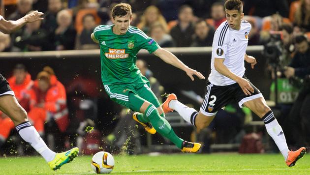 Rapid unter den Top drei in der Europa League (Bild: APA/GEORG HOCHMUTH)