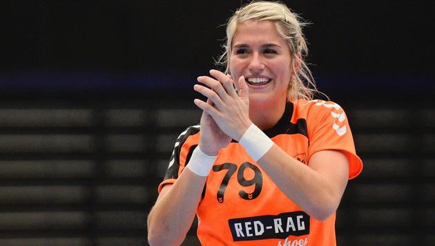 Gestatten, Estavana Polman! Die Handballerin ist angeblich die Neue von Kicker Rafel van der Vaart. (Bild: APA/AFP/JONATHAN NACKSTRAND)
