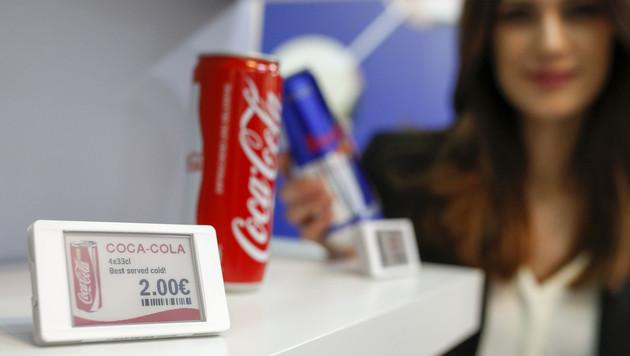 Digitale Preisschilder sind schon heute in vielen Supermärkten zu finden. (Bild: Messe Düsseldorf / ctillmann)
