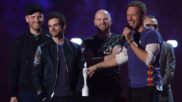 Auch Coldplay durften einen Brit Award mit nach Hause nehmen. (Bild: APA/AFP/JUSTIN TALLIS)