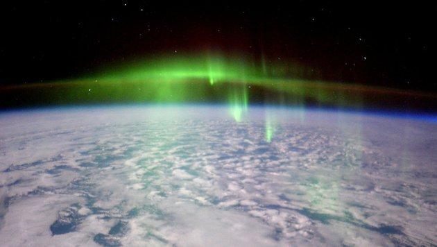 Polarlichter fungieren als Energieschlucker (Bild: Twitter/Tim Peake)