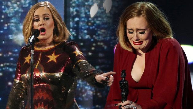 Adele räumt bei den Brit Awards ab (Bild: Joel Ryan/Invision/AP)