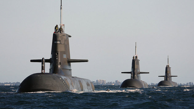 Die U-Boote der Collins-Klasse sind derzeit Australiens modernste Unterseewaffe. (Bild: AFP)