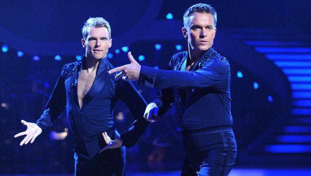 Alfons Haider und Tanzpartner Vadim Gabuzov (Bild: APA/ORF)