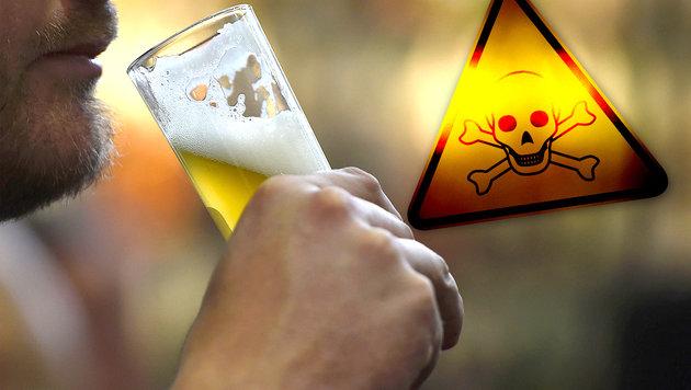 Pflanzengift in 14 deutschen Bieren gefunden (Bild: thinkstockphotos.de, APA/AFP/TOBIAS SCHWARZ)