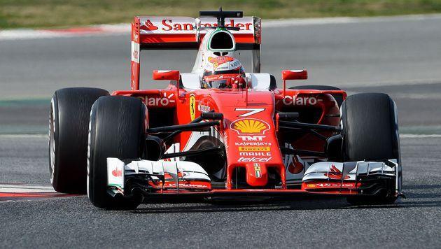 Räikkönen Schnellster zum Abschluss der Tests (Bild: AFP)