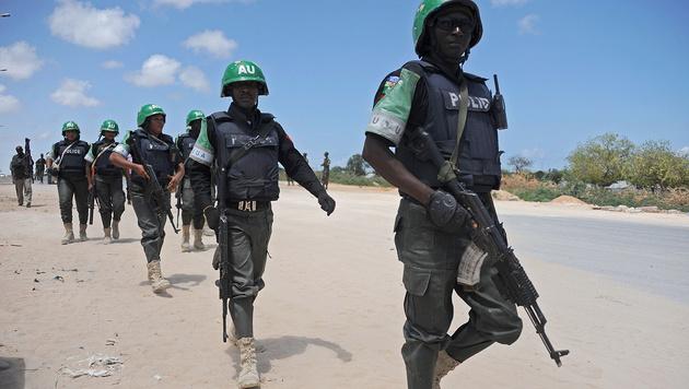 Soldaten der Mission der Afrikanischen Union in Somalia (Bild: APA/AFP/Mohamed Abdiwahab)