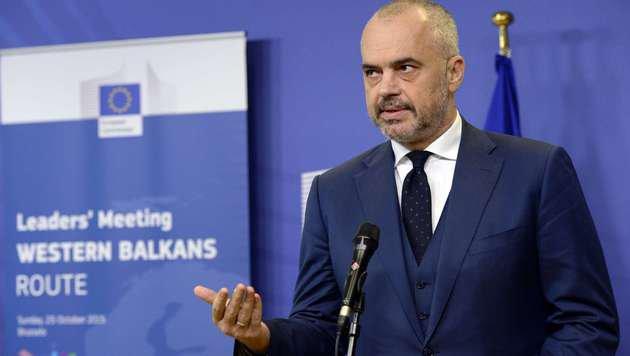 Albaniens Premier Edi Rama (Bild: APA/AFP/THIERRY CHARLIER)