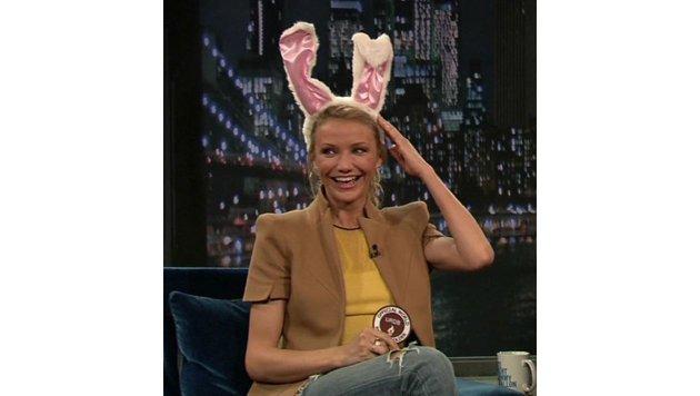 Cameron Diaz muss selbst über ihre Hasenohren lachen. (Bild: Viennareport)