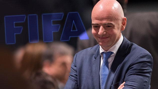 FIFA-Wahl: Infantino sorgt für Riesenüberraschung (Bild: AP, FIFA)