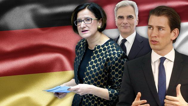 Jetzt doch: Deutsches Lob für unsere Asylpolitik (Bild: APA, thinkstockphotos.de)