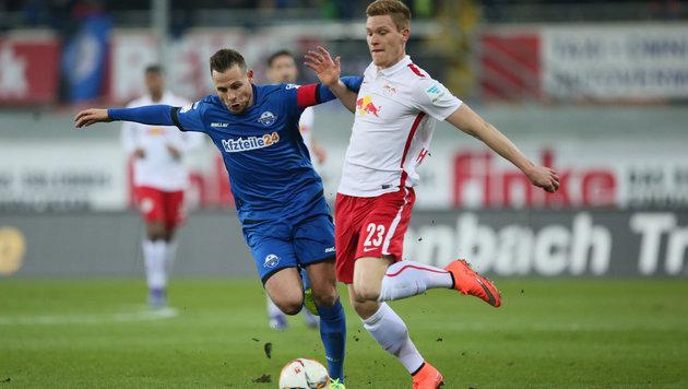 Leipzig baut mit 1:0 in Paderborn Führung aus (Bild: GEPA)