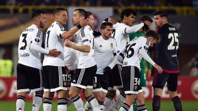 Valencia im EL-Achtelfinale gegen Bilbao (Bild: APA/AFP/HANS PUNZ)