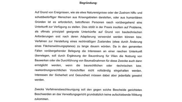Wien will Asylquartiere ohne Bewilligung zulassen (Bild: Krone)