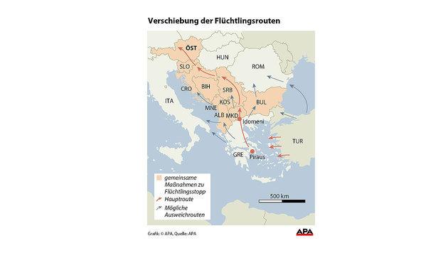 Fl�chtlinge: Tagesquoten nun auch in Balkanstaaten (Bild: APA)
