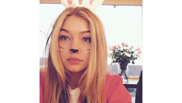 """""""Little bunny giiii"""", schreibt Gigi Hadid zu ihrem Häschenfoto. (Bild: face to face)"""
