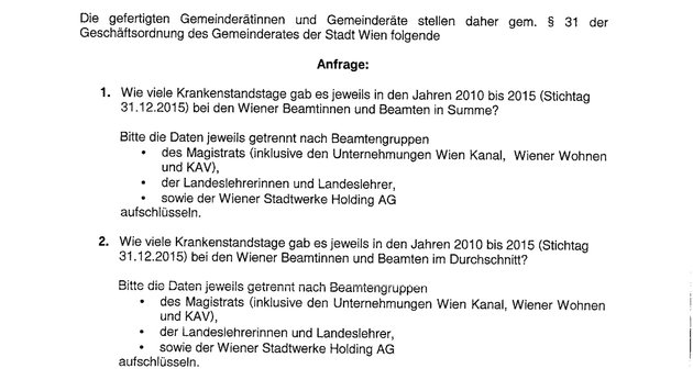 Wiener Beamte sind pro Jahr einen Monat lang krank (Bild: Krone)