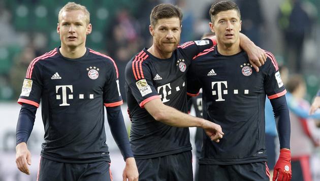 2:0! Bayern siegt in Wolfsburg, Stuttgart verliert (Bild: AP)