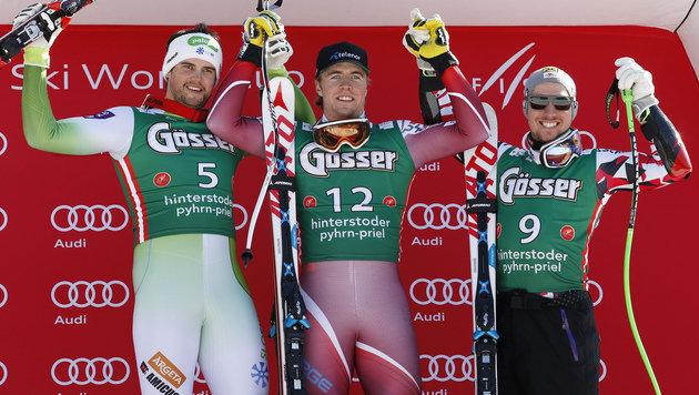 Kline, Kilde und Hirscher (Bild: AP)