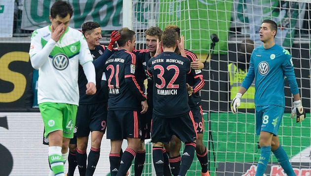 2:0! Bayern siegt in Wolfsburg, Stuttgart verliert (Bild: AFP)