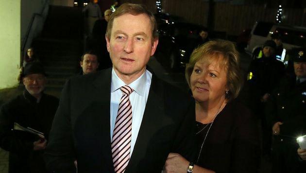 Irlands Premierminister Enda Kenny mit seiner Frau Fionnuala (Bild: AFP)
