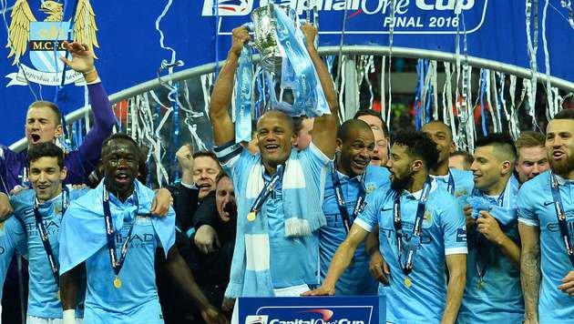 Klopp-Drama im Elferschießen! City holt Liga-Cup (Bild: APA/AFP/GLYN KIRK)