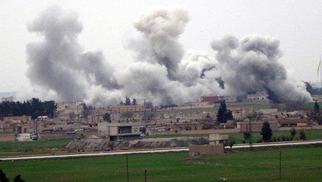 Trotz Feuerpause in Syrien: Luftschläge in Aleppo (Bild: AFP or licensors)