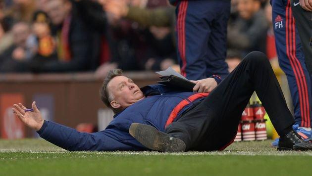 Van Gaal windet sich wie ein Aal! Die Lachnummer (Bild: AFP or licensors)