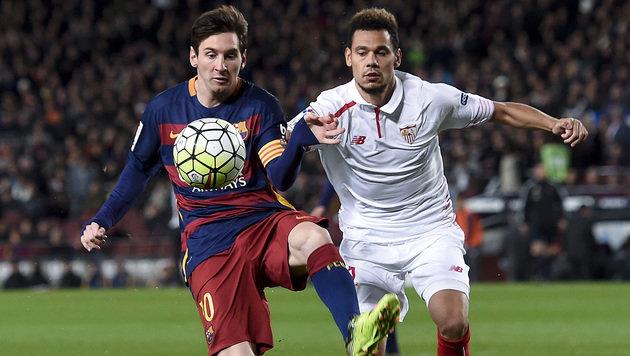Video: Messi mit Traumfreistoß bei Rekordspiel (Bild: AFP or licensors)